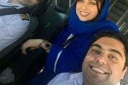 طلاق نفیسه روشن از همسر خلبانش+فیلم